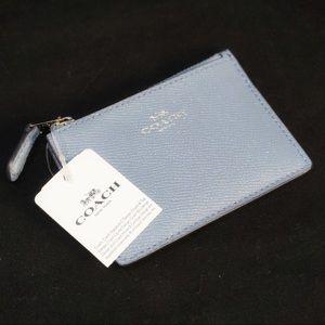 Coach NWT Blue Shimmer Wallet Key Chain